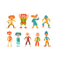 flat set evil clowns scary men in vector image vector image