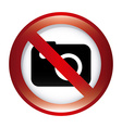 forbidden camera design vector image