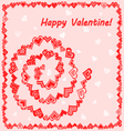 Frame with hearts happy Valentine vector image