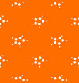 furan pattern orange vector image vector image