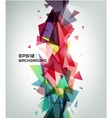 geometric shape abstract futuristic vector image vector image