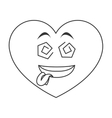 goofy heart cartoon icon vector image vector image