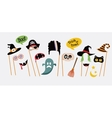 Halloween party photo booth collection vector image vector image