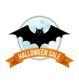 Halloween Sale Logo or Label vector image vector image