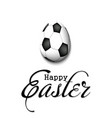 Happy easter egg in form a soccer ball