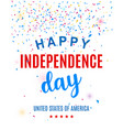 happy fourth july greeting card template vector image vector image