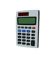isolated calculator office tool vector image vector image