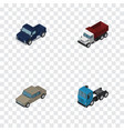 isometric transport set of auto freight suv and vector image vector image