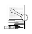 market downward line vector image vector image