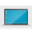 modern computer with operating system interface vector image vector image