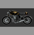 motorcycle or bike retro motor bicycle hand vector image vector image