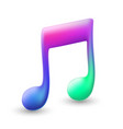 musical note colourful vector image