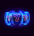 neon slot machine wins jackpot 777 big win