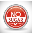 No sugar or sugar free vector image vector image