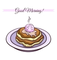 Pancakes With Ice Cream vector image