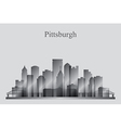 Pittsburgh city skyline silhouette in grayscale vector image vector image
