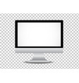 realistic computer monitor isolated on vector image