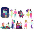 romantic couple in love spending time together vector image vector image