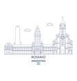 rosario city skyline vector image vector image