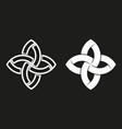 sacred geometric logo black and white overlapping vector image