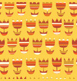 scandinavian simple seamless floral pattern vector image