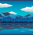 sea and mountain landscape neverending vector image