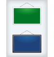 Set of two sign boards hanging on a nail vector image vector image