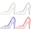 shoe women high heel hand drawn sketch vector image vector image