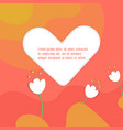 simple flat card for valentines day vector image vector image