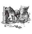 six inch man and horse vintage vector image vector image