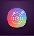 smart goal app icon vector image vector image