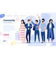 social media web page concept vector image