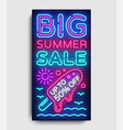 summer sale vertical banner design template vector image vector image