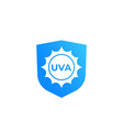 uva protection icon vector image vector image