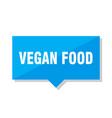 vegan food price tag vector image vector image