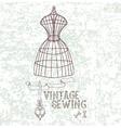 vintage sewing vector image vector image