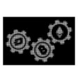 white halftone cryptocurrency conversion gears vector image