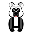 isolated cute panda vector image