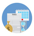 tax icon concept vector image