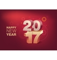 3D Text 2017 with shadow on shiny red background vector image vector image
