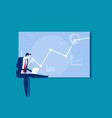 a businessman working on graph concept vector image vector image