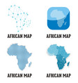 african map vector image vector image
