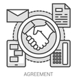 Agreement line infographic vector image vector image