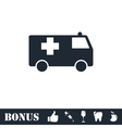 Ambulance icon flat vector image