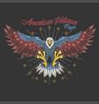 american veteran eagle vector image vector image