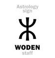 Astrology woden staff