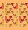 bird pattern livestock seamless ornamental vector image
