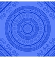 Blue Circle Lace Ornament vector image