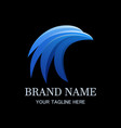 blue head bird logo template vector image