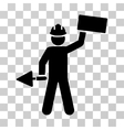 Builder With Brick Icon vector image
